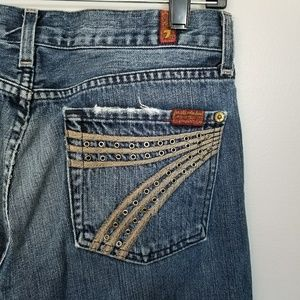 7 for All Mankind Distressed Studded 7 Dojos